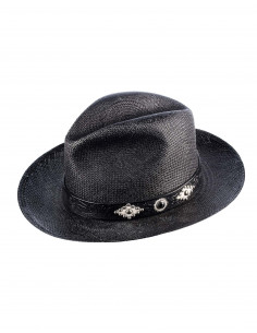 Chapeau Rough Rock Noir